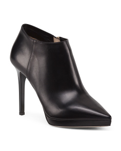Made In Italy Lindsey Leather Booties