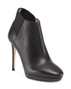 Made In Italy Talula Leather Ankle Booties