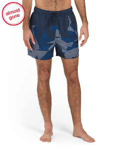 Stripe Cityscape Swim Trunks