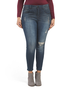 Plus Triple Needle Pencil Jeans