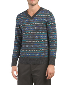 Fairisle V Neck Sweater