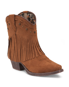 Low Fringe Booties