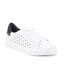 Perforated Lace Up Sneakers