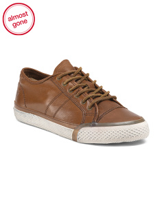 Low Profile Leather Sneakers