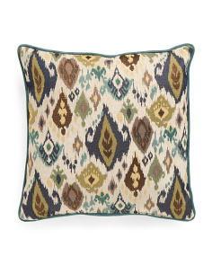 22x22 Large Chenille Ikat Pillow
