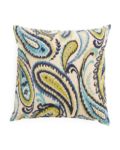 22x22 Large Paisley Velvet Pillow