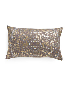 14x24 Anu Foil Dot Printed Pillow
