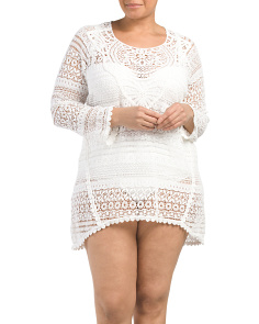 Plus Made In USA Crochet Swim Dress Cover-Up