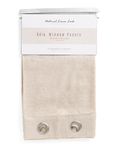 38x84 Faux Linen Set Of 2 Curtains