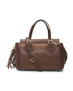 City Chic Leather Satchel
