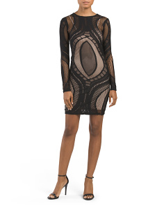 Juniors Burnout Illusion Dress