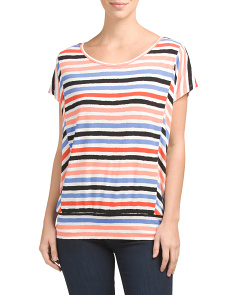 Dolman Sleeve Wave Stripe Top