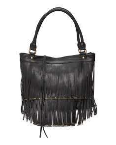 Mae Tote With Fringe