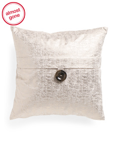 20x20 Metallic Velvet Feather Filled Pillow