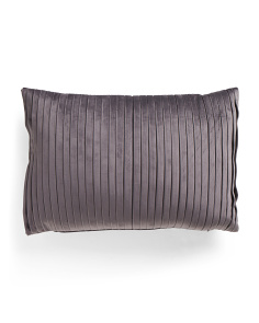 14x20 Velvet Pleated Oblong Pillow