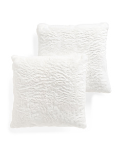 20x20 2pk Faux Fur Pillows