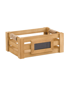 Small Chalkboard Wood Bin