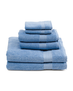 Made In Turkey 6pc Towel Collection