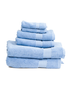 6pc Turkish Cotton Towel Collection
