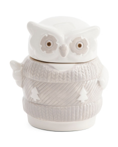 8.5oz Owl Ceramic Jar Candle