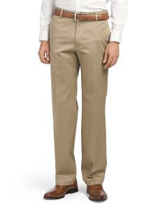 Signature Straight Flat Front Pants