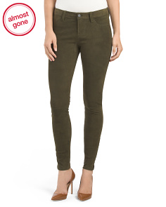 Suede Super Skinny Pants