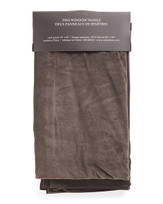 54x96 Rod Pocket Velvet Set Of 2 Curtains