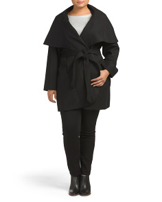 Plus Marla Oversize Cocoon Wool Blend Coat