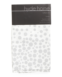 50x96 Set Of 2 Metallic Dot Flippable Curtains