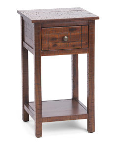 Solid Acacia Accent Table
