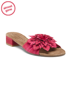 Swish Flower Suede Heels