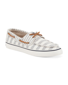 Canvas Bahama Stripe Boat Shoes