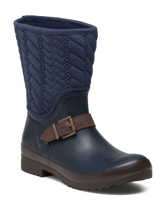 Walker Navy Rope Boots