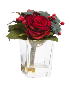 7in Rose And Berry Arrangement