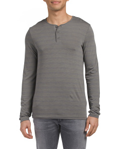 Space Dyed Long Sleeve Henley