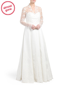 Made In USA Kate Long Sleeve Wedding Gown