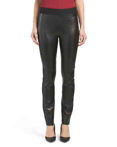 Ponte Faux Leather Front Leggings