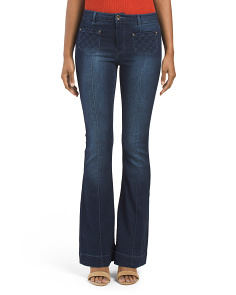 Juniors Seamed Flare Jeans