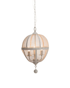 Metal Orb Cage Chandelier