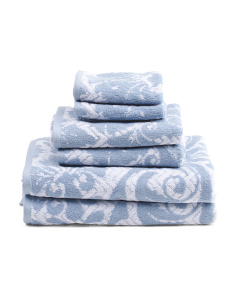 6pc Roma Jacquard Towel Set