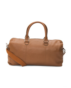 Pebble Leather Duffel