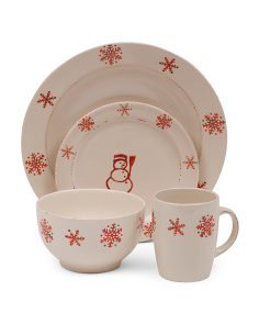 16pc Birchwood Dinnerware Set