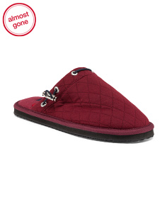 Jersey Quilted Scuff Slippers