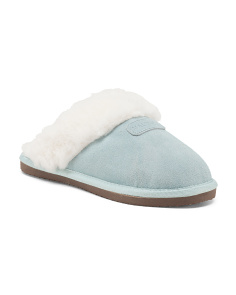 Wool Lined Suede Slippers