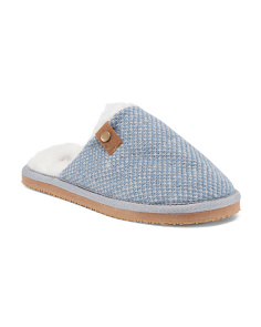 Fine Knit Scuff Slippers