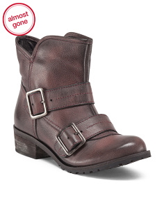 Made In Brazil Waterproof Double Buckle Leather Bootie