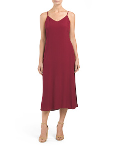 Juniors Satin Midi Slip Dress