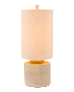 Cylinder Cement Table Lamp