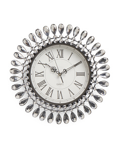 Teardrop Border Bling Clock