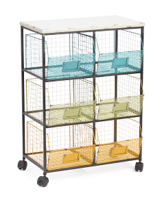 Large Storage Cart On Wheels